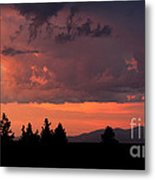 Dragonfire Sunset - Mt. Spokane Wa Metal Print
