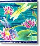 On The Breeze Of Dragonflies Metal Print