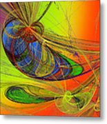 Dragonfly Fancy Metal Print
