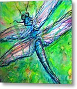 Dragonfly Spring Metal Print by M C Sturman