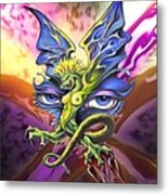 Dragons Eyes By Spano Metal Print