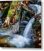 Dragons Teeth Icicles Waterfall Great Smoky Mountains Painted  Metal Print