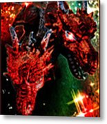 Dragons W/border Metal Print