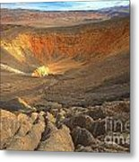 Draining Into The Crater Metal Print