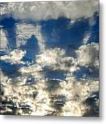 Drama Cloud Sunset I Metal Print