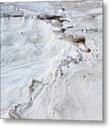 Dramatic Abstract At White Sands Metal Print