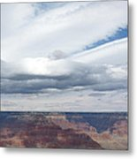 Dramatic Clouds Over The Grand Canyon Metal Print
