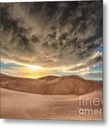 Dramatic Clouds Over The Sand Dunes Metal Print