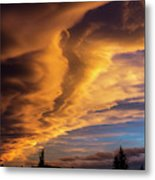 Dramatic Colourful Clouds At Sunset Metal Print