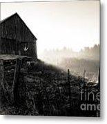 Dramatic Farm Sunrise Metal Print