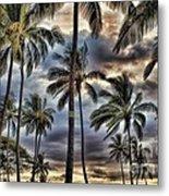 Dramatic Maui Sunset Metal Print
