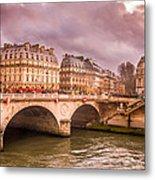 Dramatic Parisian Sky Metal Print