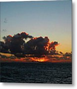 Dramatic Sea Sky At Dawn Metal Print
