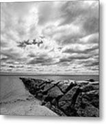 Dramatic Sky At Penfield Jetty Metal Print