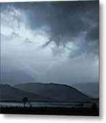 Dramatic Sky Over Silhouettes Metal Print