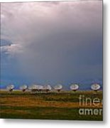 Dramatic Sky Over The Very Large Array Metal Print