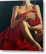 Draped In Red Metal Print