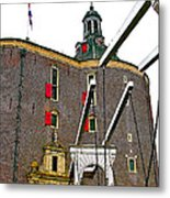 Drawbridge And Tower In Enkhuizen-netherlands Metal Print