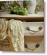 Drawer Of Lace Metal Print by Diana Angstadt