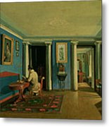 Drawing Room With Columned Entresol  Metal Print