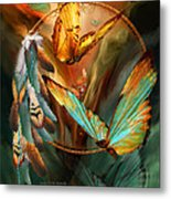 Dream Catcher - Spirit Of The Butterfly Metal Print