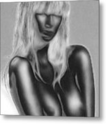 Dream In Black And White Metal Print