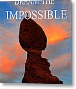 Dream The Impossible Card Poster Two Metal Print