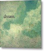 Dream Vintage Sky Pattern Metal Print