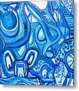 Dreaming In Blue Metal Print