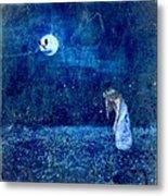 Dreaming In Blue Metal Print by Rhonda Barrett