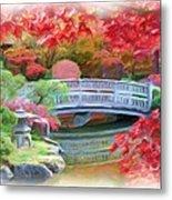 Dreaming Of Fall Bridge In Manito Park Metal Print