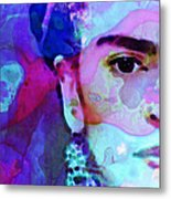 Dreaming Of Frida - Art By Sharon Cummings Metal Print by Sharon Cummings