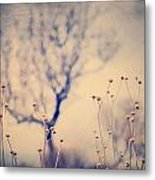 Dreaming Tree. Vintage Metal Print