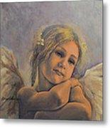 Dreamy Angel Metal Print