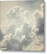 Dreamy Clouds In Shades Of Grey And Slate Blue Metal Print
