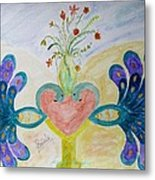 Dreamy Heart Metal Print