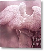 Dreamy Surreal Ethereal Pink Angel Art Wings Metal Print