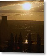Dresden At Sunset Metal Print by Peter Cassidy