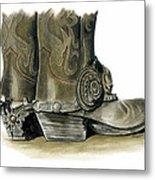 Dress Boots Metal Print