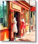 Dress Shop Fells Point Md Metal Print