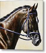 Dressage Horse - Concentration Metal Print by Crista Forest