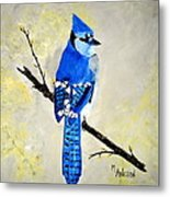 Dressed In Blue Metal Print