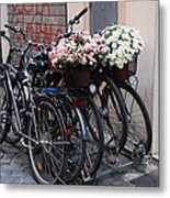Dressing Up The Bicycle Stand Metal Print