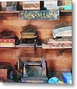 Dressmaking Supplies And Sewing Machine Metal Print