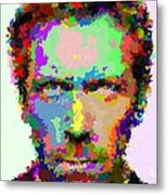 Dr. House Portrait - Abstract Metal Print