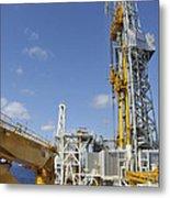 Drillship Deck And Tower Metal Print