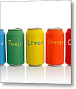 Drink Cans Metal Print