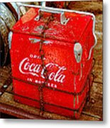 Drink Coke In Bottles Metal Print