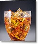 Drink On Ice Metal Print