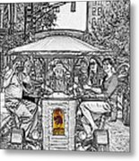 Drinking And Driving Metal Print